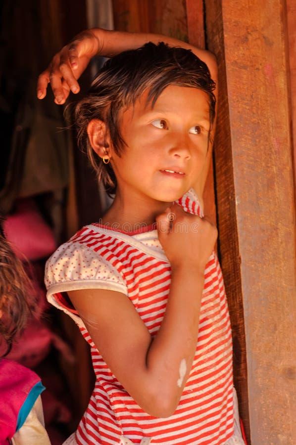 Mädchen in Beni in Nepal lizenzfreies stockfoto
