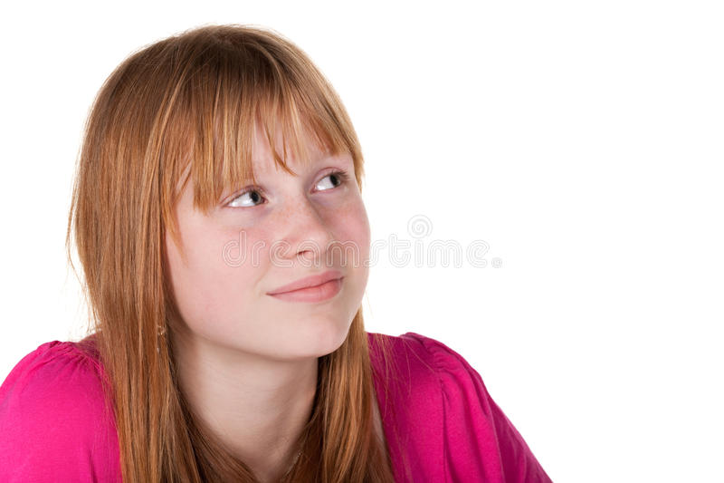 Mädchen, das in der Tageszeit träumt lizenzfreies stockbild