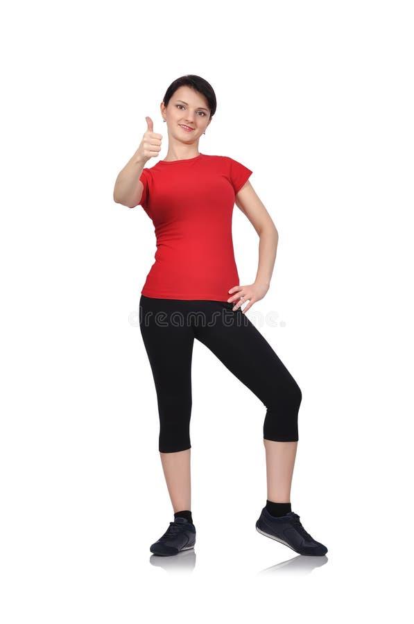 Download Mädchen, Das Sich Daumen Zeigt Stockfoto - Bild von frau, person: 47101562