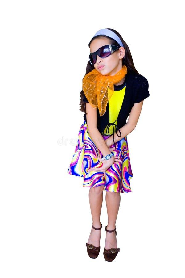 Mädchen, das vortäuscht, in der Jahrära zu sein lizenzfreie stockfotos