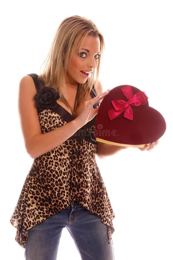Mädchen des Valentinsgrußes stockfotografie