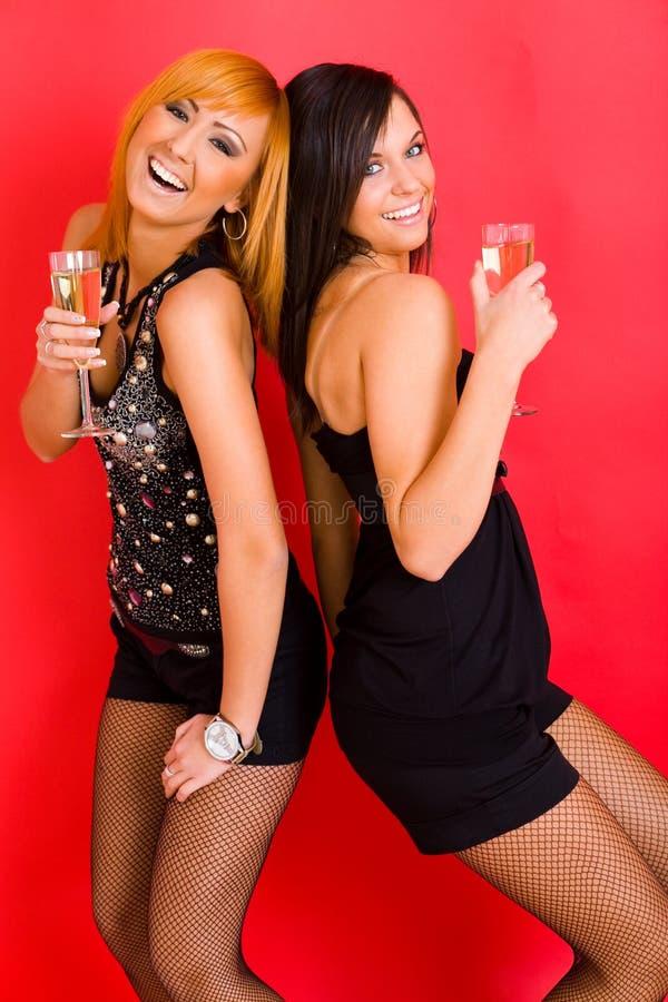 Mädchen, die Spaß haben stockfotos