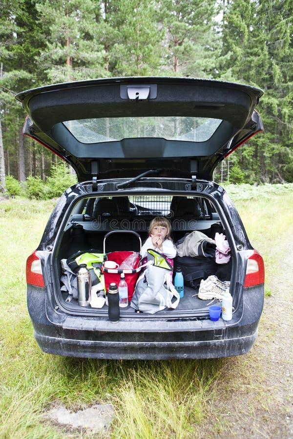 Mädchen In Einem Auto Stockfoto