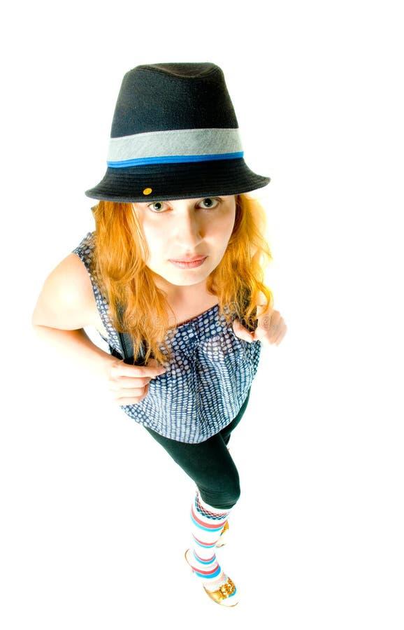 Mädchen in einem Hut lizenzfreies stockbild