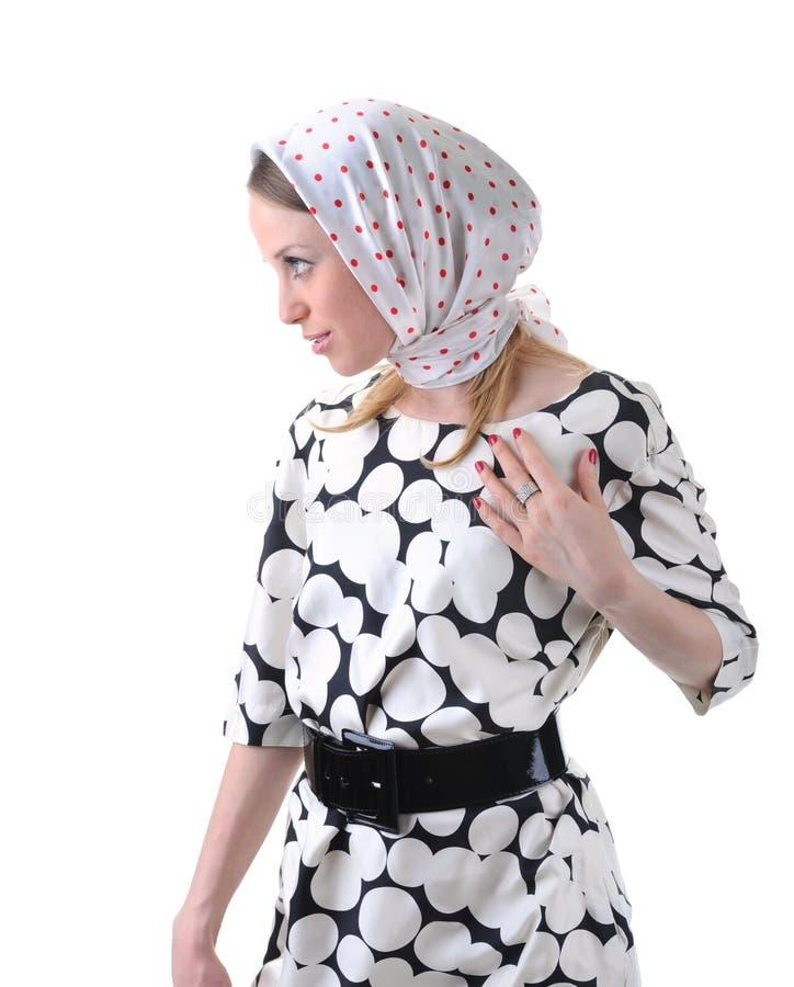 Mädchen in einem Kopftuch stockfotos