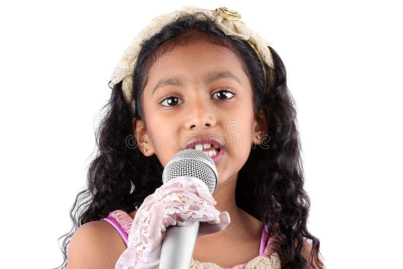 Mädchen in einer Rede stockfotografie