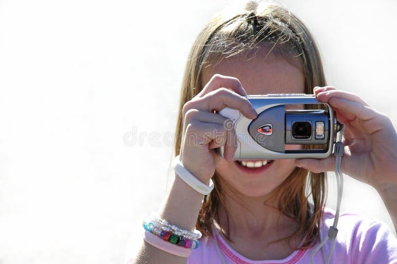 Mädchen-Fotograf stockfotos