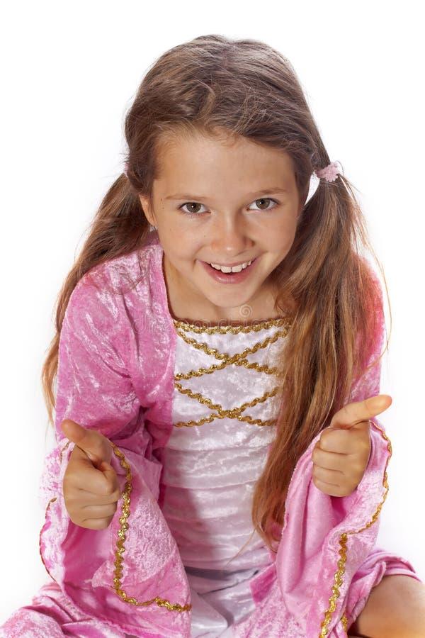 Mädchen gekleidet als Fee lizenzfreie stockfotos
