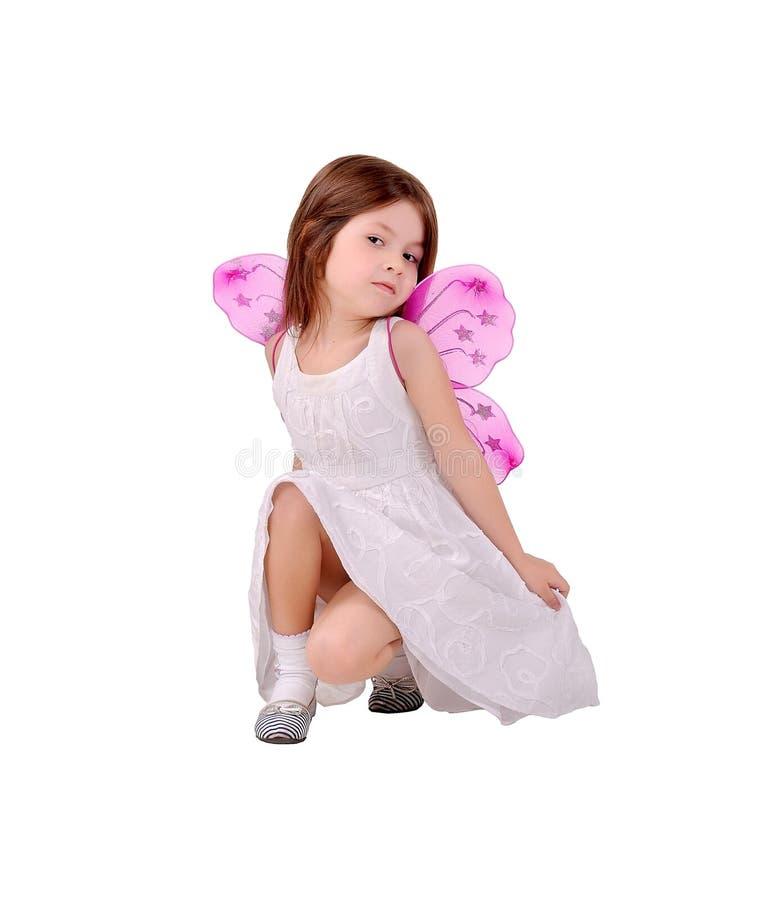 Mädchen gekleidet als Feen stockbild