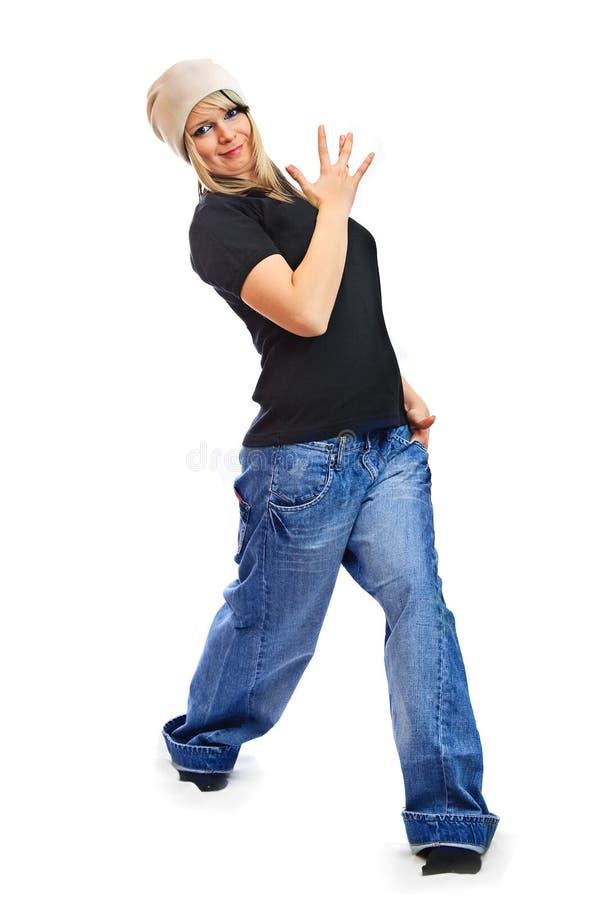 Download Mädchen Gekleidet In Einem Hip-hop Stockbild - Bild von getrennt, jung: 12201339