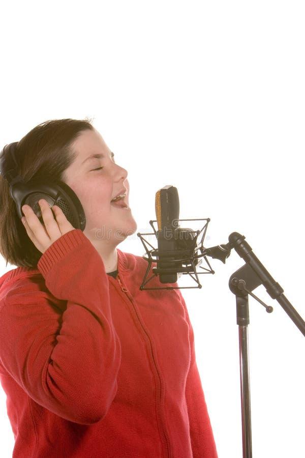 Mädchen-Gesang stockfotografie