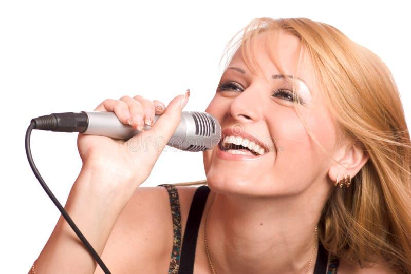 Mädchen-Gesang stockbild