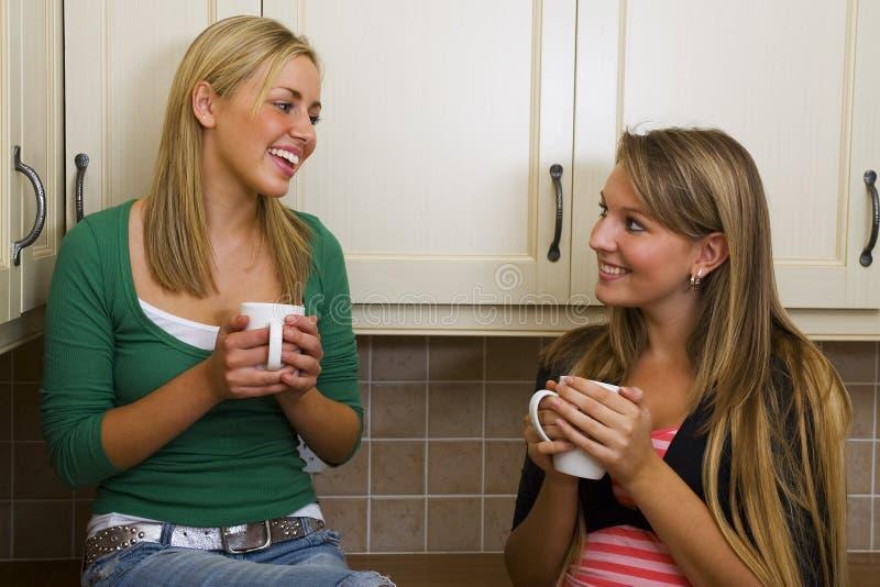 Mädchen-Gespräch stockfotos