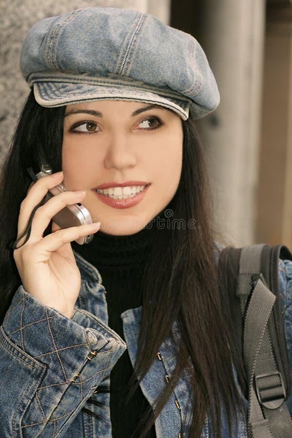 Mädchen-Gespräch lizenzfreies stockfoto
