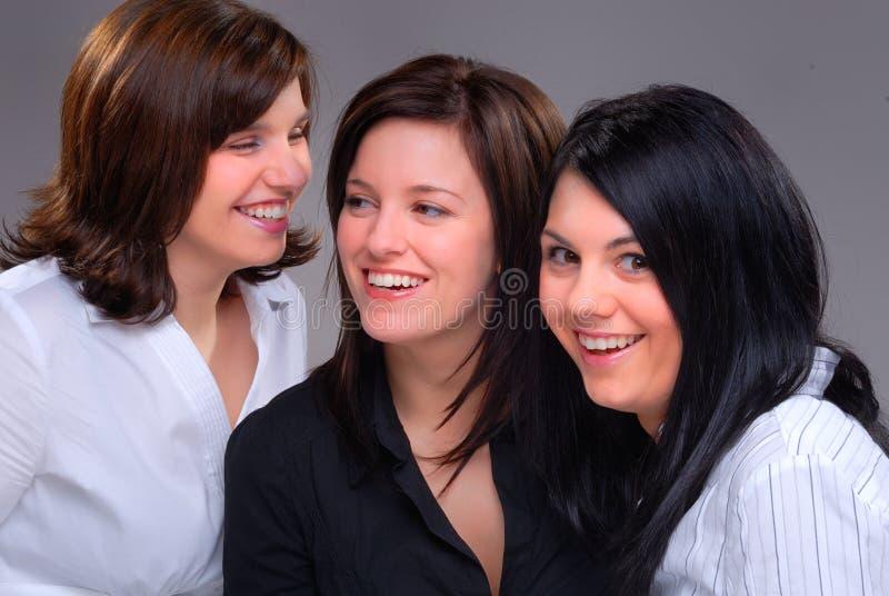 Mädchen-Gespräch lizenzfreie stockfotografie