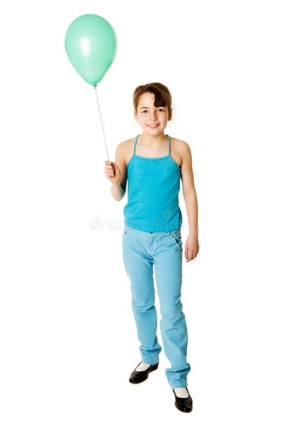 Mädchen-Holding-Ballon stockbild