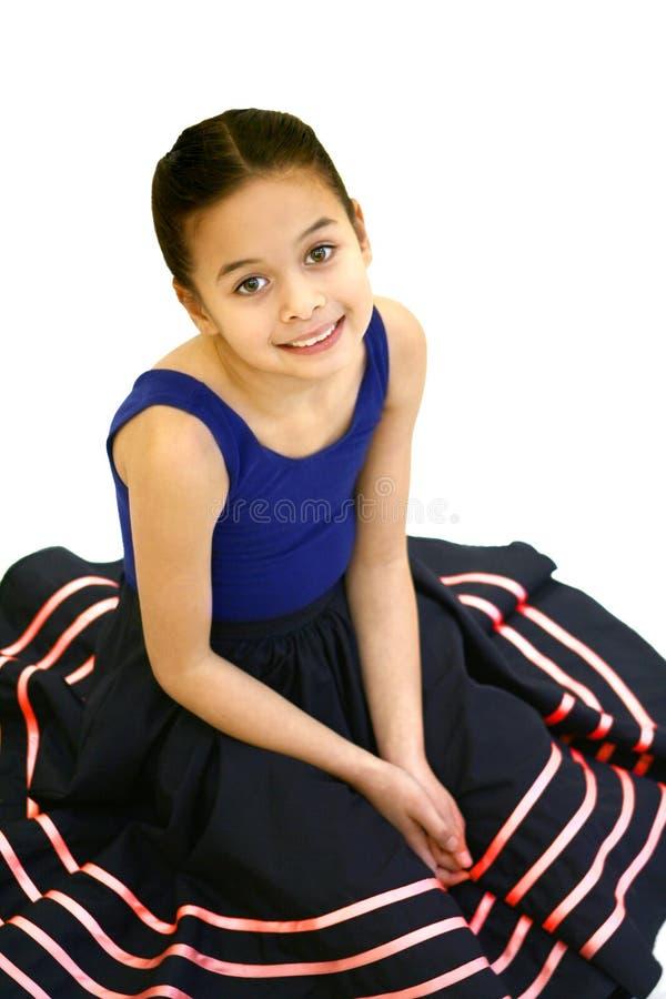 Mädchen in ihrer Ballettausstattung lizenzfreie stockfotos