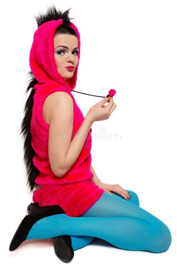 Mädchen im fantastischen Kostüm lizenzfreie stockfotografie