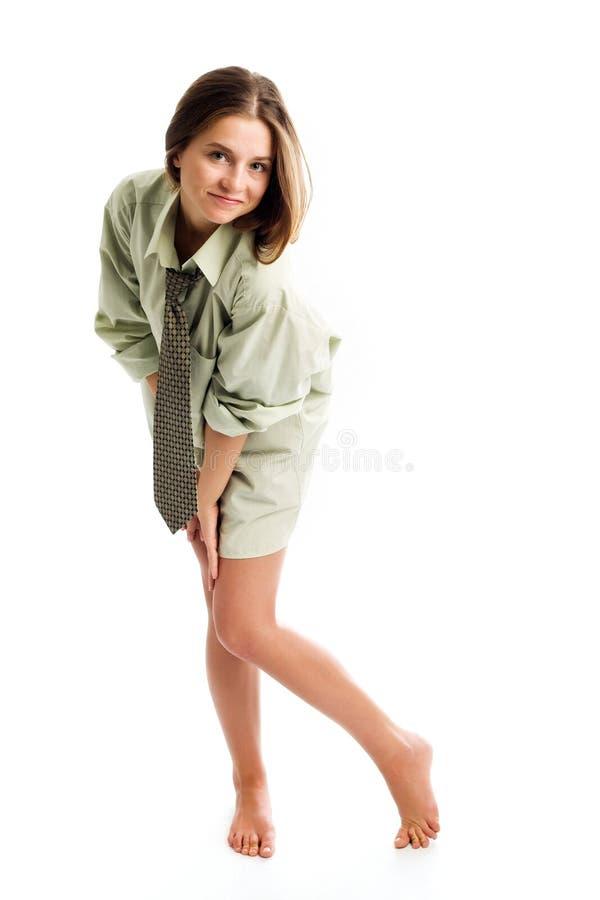 Mädchen im Hemd stockfotografie