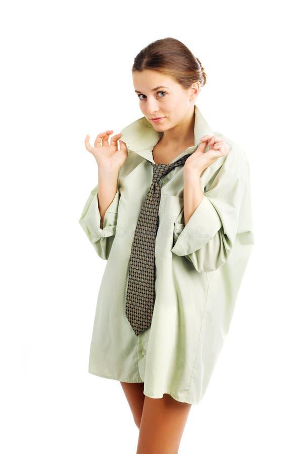 Mädchen im Hemd lizenzfreies stockfoto