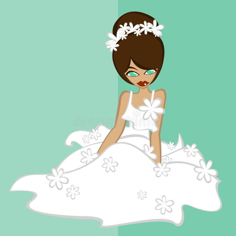 Mädchen im keinem Brautkostüm 4 lizenzfreie stockbilder