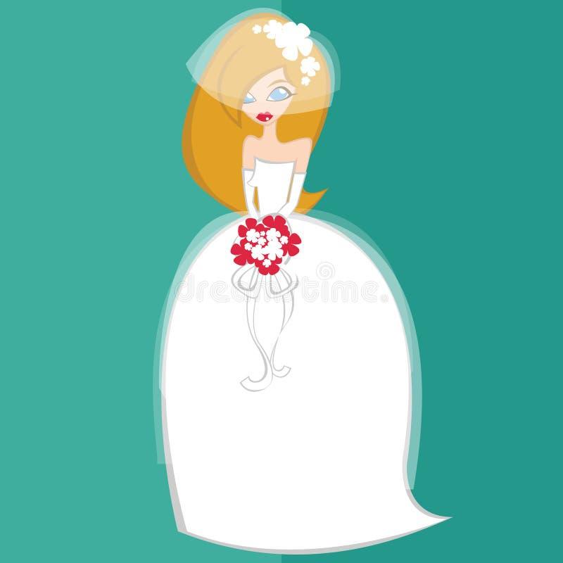 Mädchen im keinem Brautkostüm 1 stockbilder