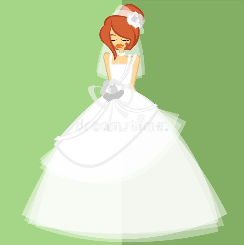 Mädchen im keinem Brautkostüm 9 lizenzfreie stockbilder