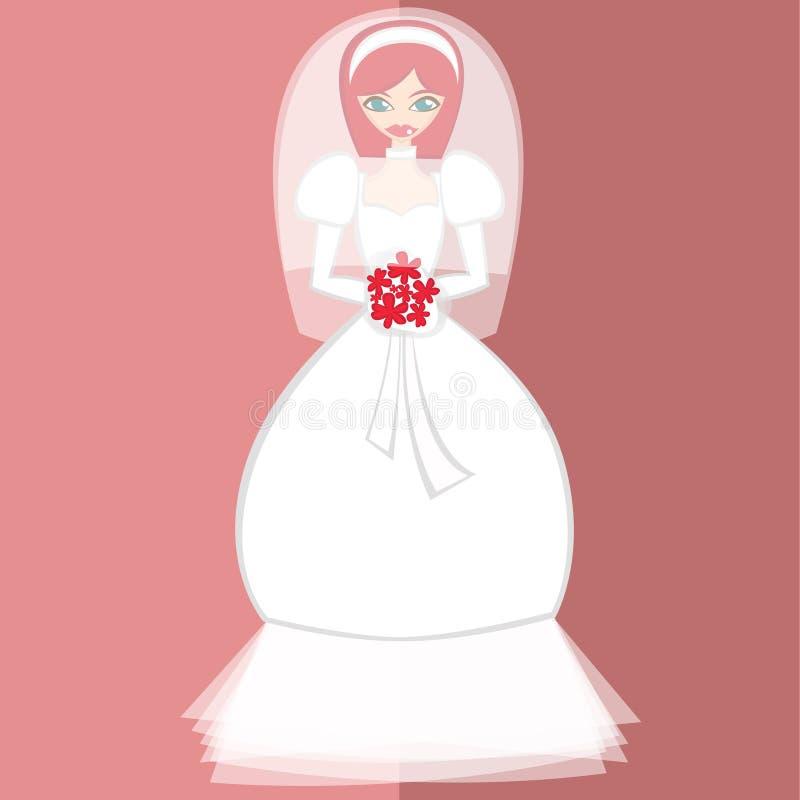 Mädchen im keinem Brautkostüm 10 stockfoto