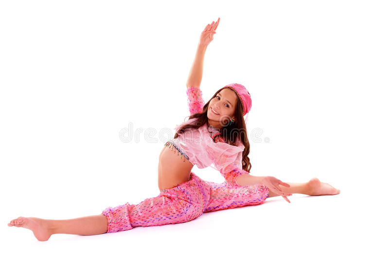 Mädchen im orientalischen Kostüm stockfotografie