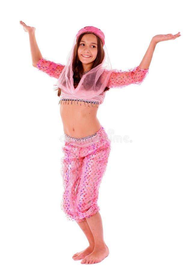 Mädchen im orientalischen Kostüm lizenzfreies stockfoto