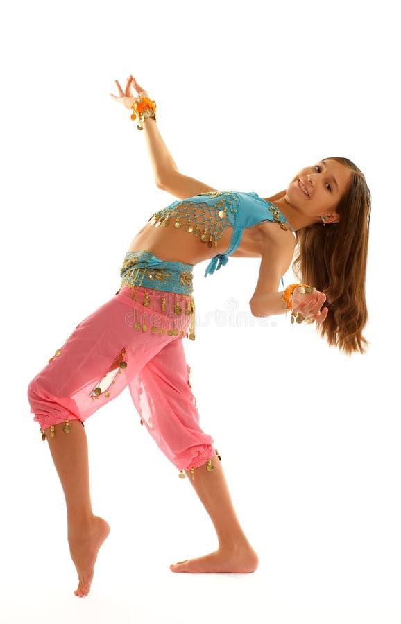 Mädchen im orientalischen Kostüm lizenzfreie stockbilder