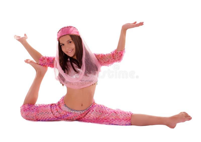 Mädchen im orientalischen Kostüm stockbilder