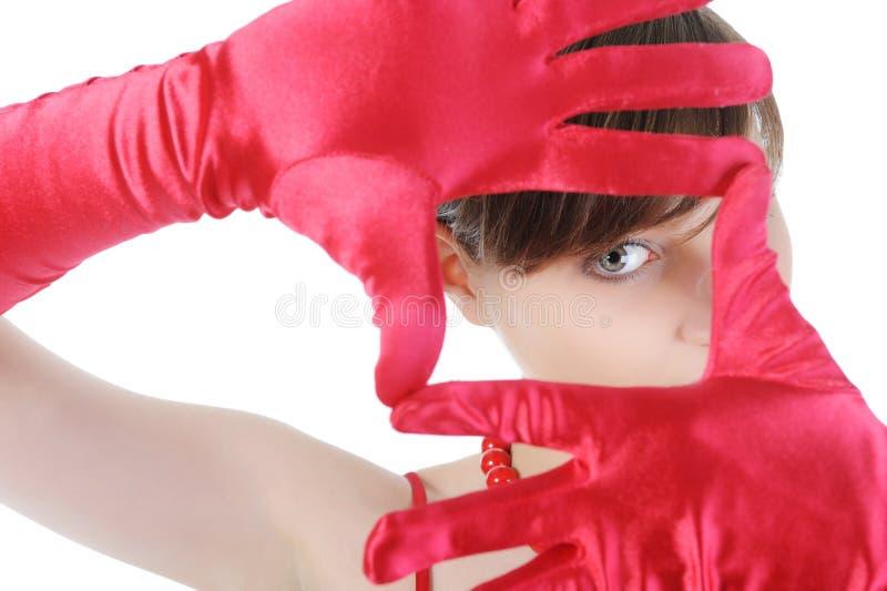 Mädchen im Rot. lizenzfreie stockbilder