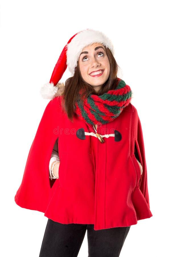Mädchen im Weihnachten lizenzfreies stockfoto