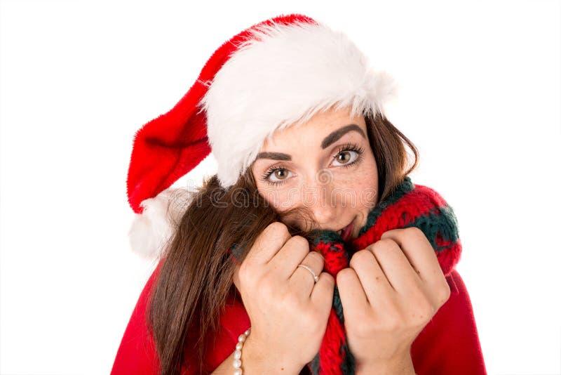 Mädchen im Weihnachten lizenzfreie stockbilder