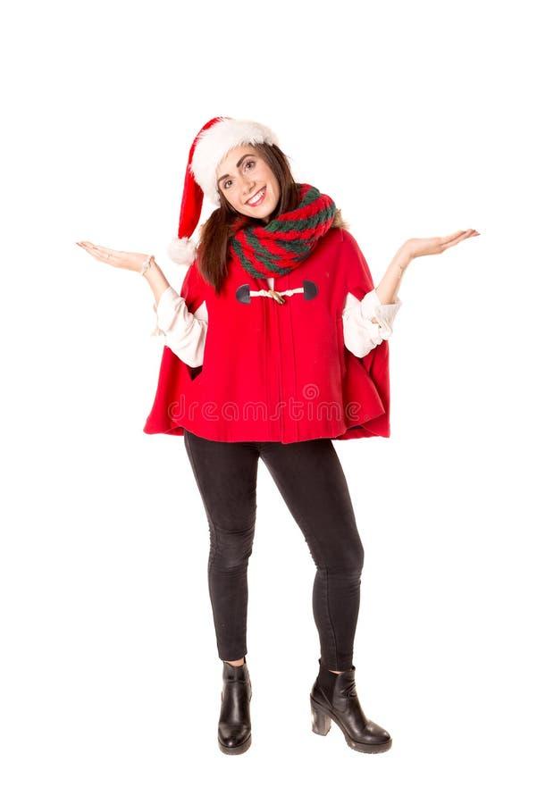 Mädchen im Weihnachten stockbilder