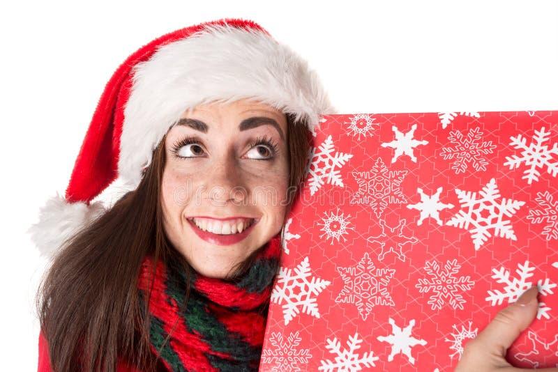 Mädchen im Weihnachten stockfoto