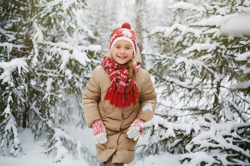 Mädchen im Winterpark lizenzfreie stockfotos