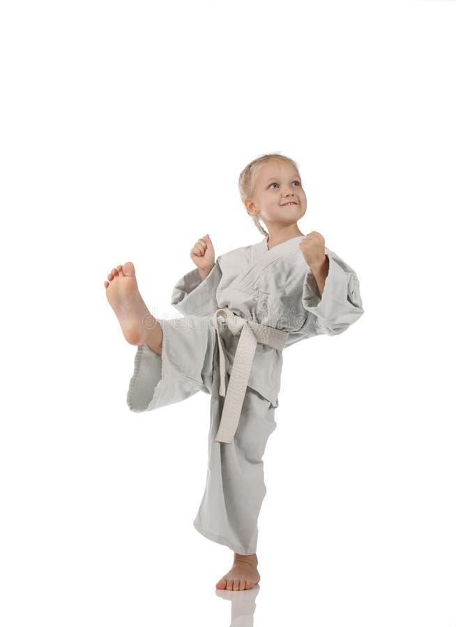 Mädchen - karateka lizenzfreie stockbilder