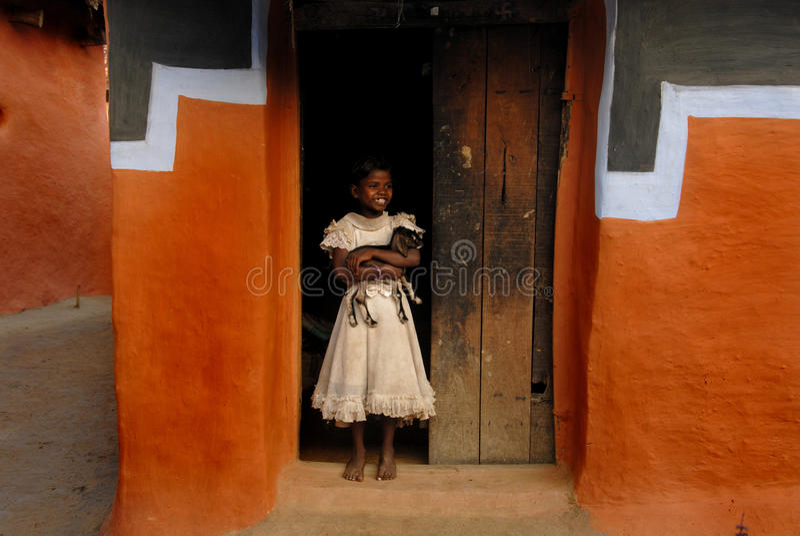 Mädchen-Kind in Indien lizenzfreie stockfotografie