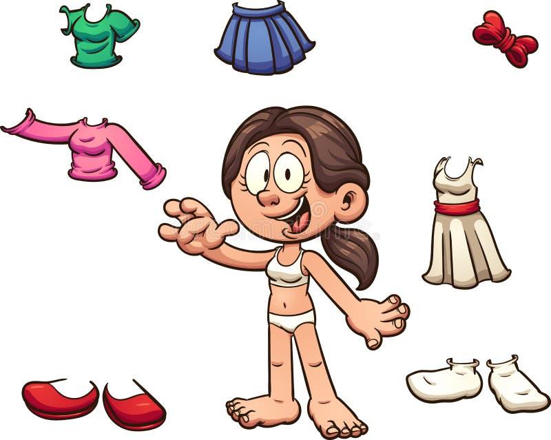 Mädchen-Kleidung lizenzfreie abbildung