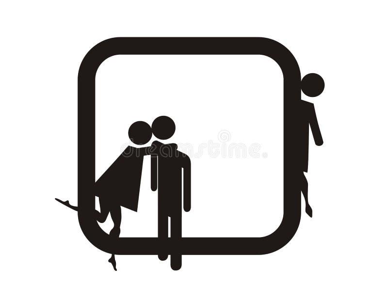 Mädchen-Kuss ein Mann vektor abbildung