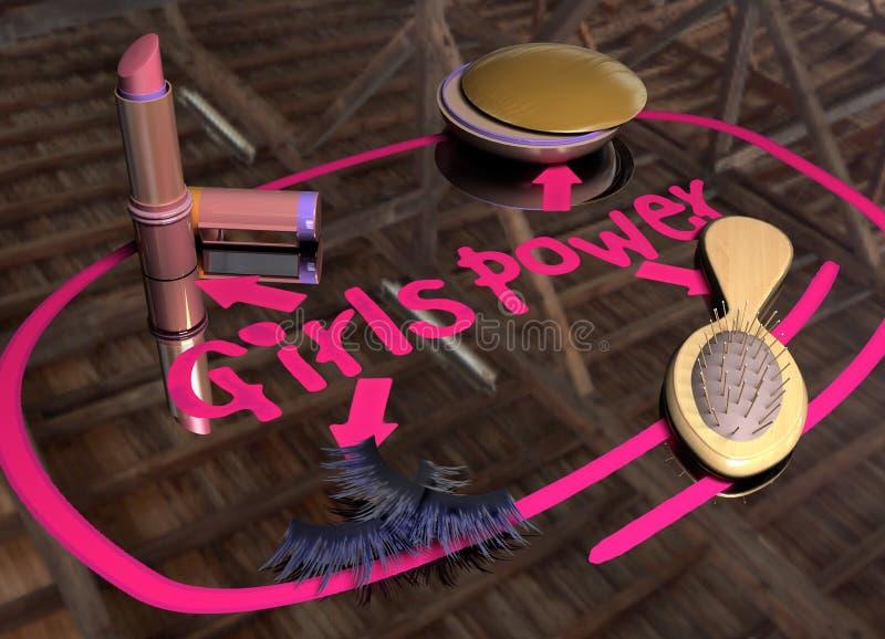 Mädchen-Leistung vektor abbildung