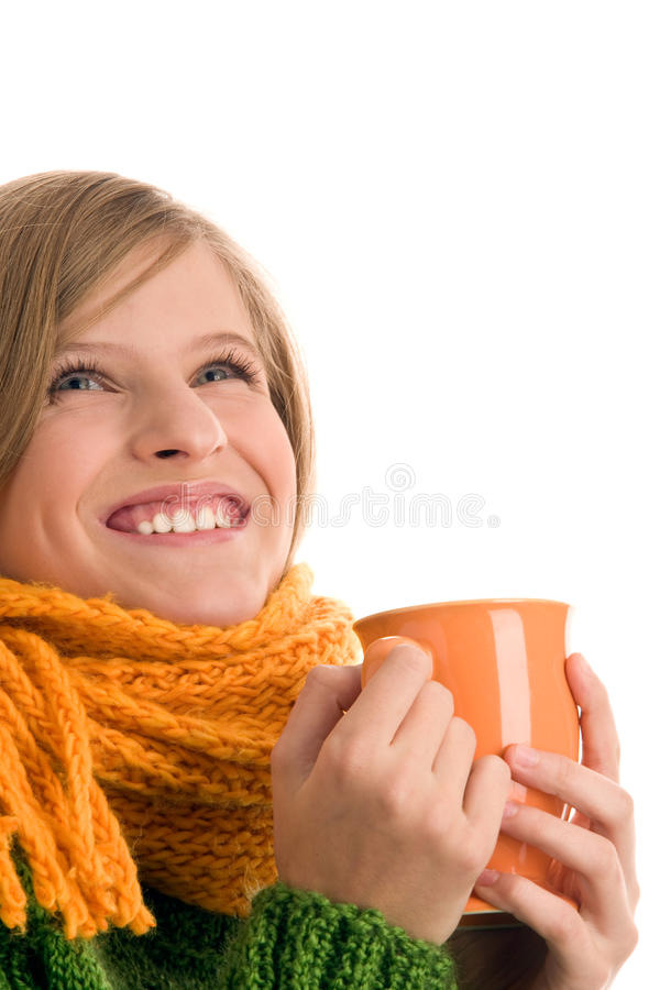 Mädchen mit Becher lizenzfreies stockfoto