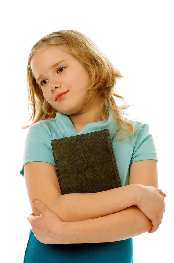 Mädchen mit Buch lizenzfreies stockfoto