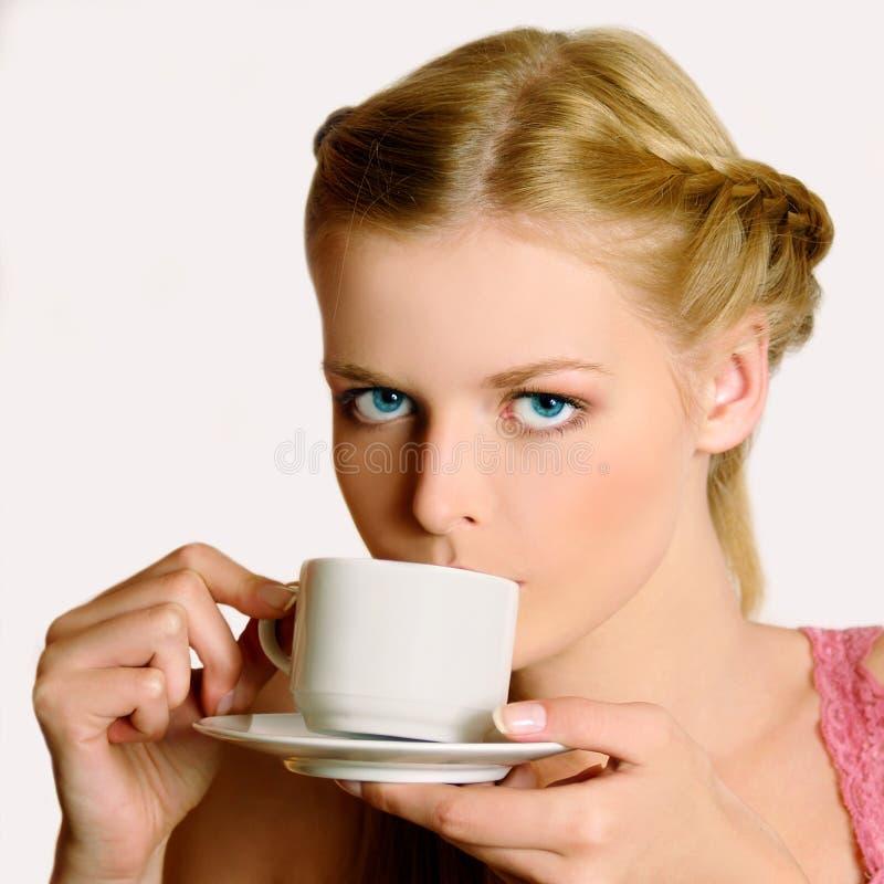 Mädchen mit Cup stockfoto