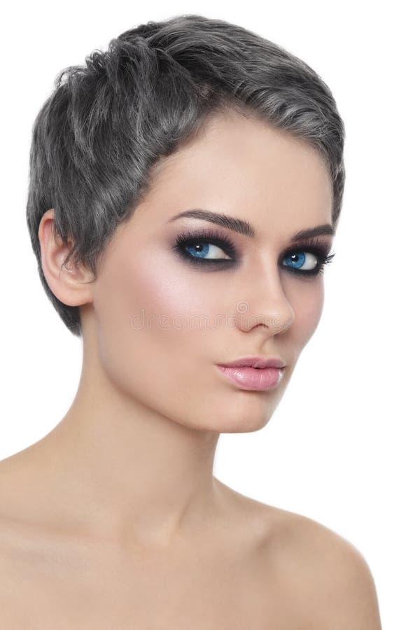 Mädchen mit dem grauen Haar stockfoto