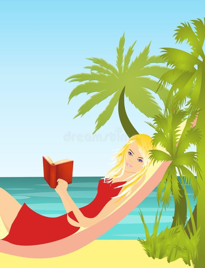 Mädchen mit einem Buch stock abbildung