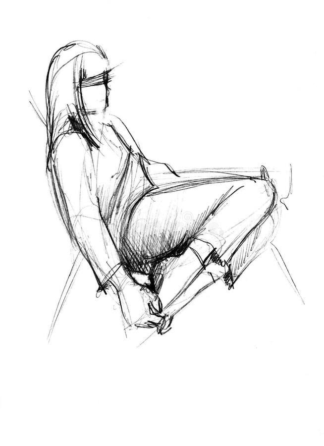 Mädchen mit Füßen auf einem Sofa vektor abbildung