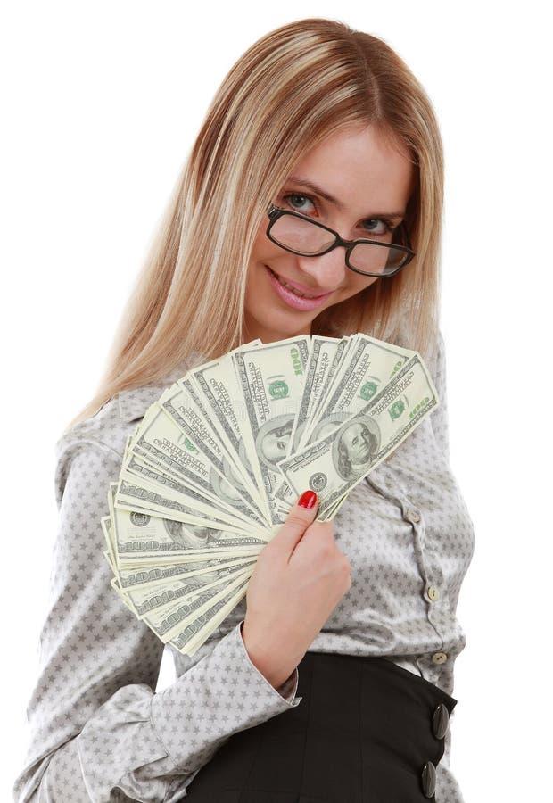 Download Mädchen Mit Gebläse Der Dollar Stockbild - Bild von papier, einkommen: 12203121